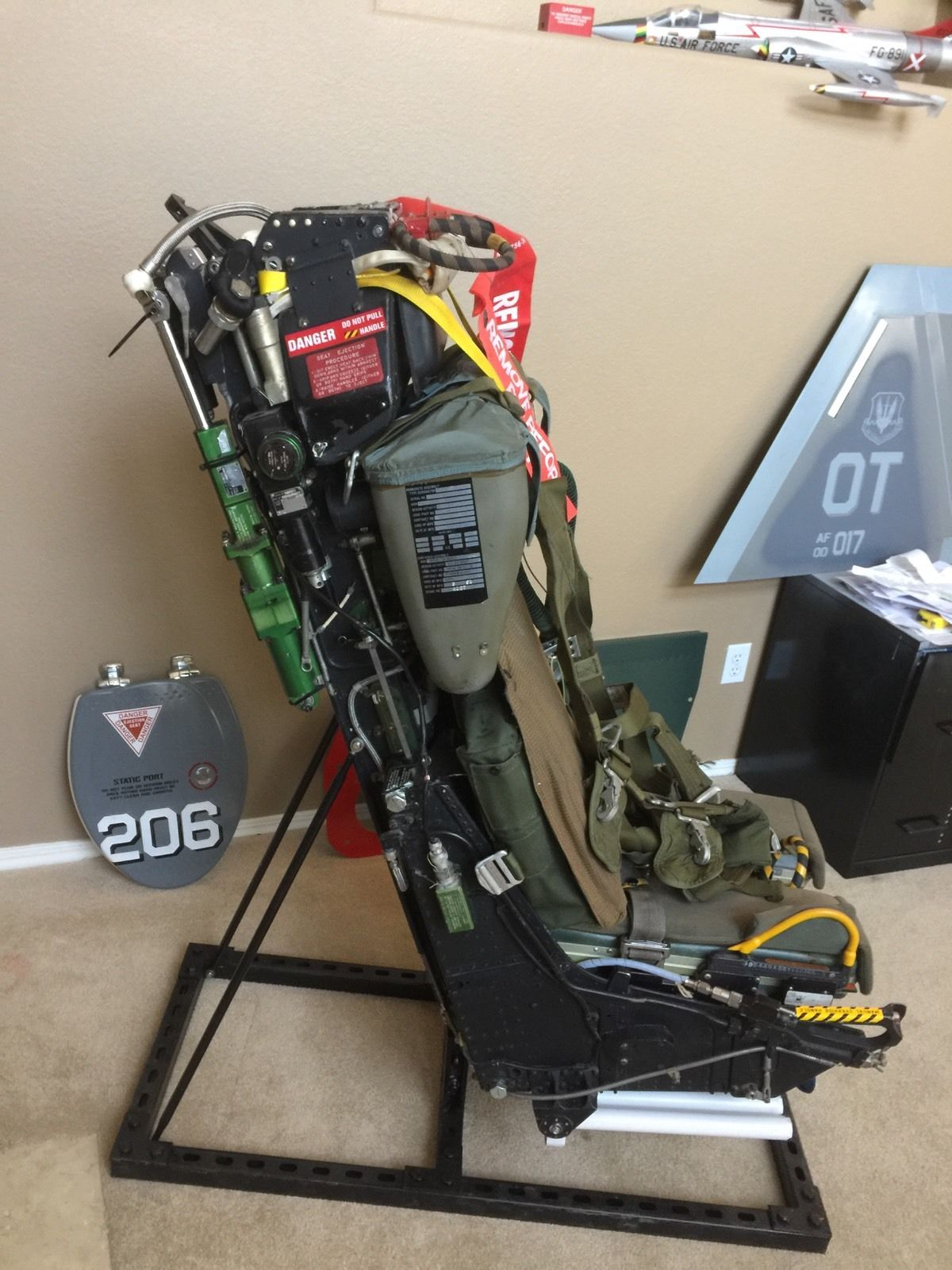 Ejection Seat Office Chair Nose Art Displays Hand Made